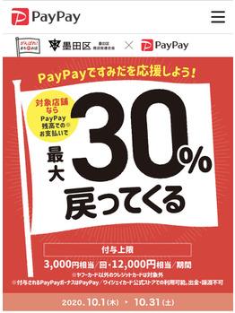 Paypayがすごい!!! 30%還元キャンペーン!!!